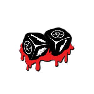Bloody Dice Pin